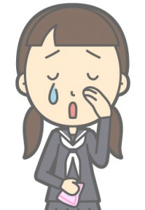泣く女性のイメージイラスト