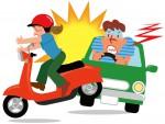 バイク事故のイメージイラスト