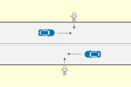 一般道路での歩行者との事故