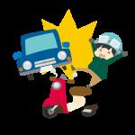バイク事故のイラスト