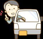 車に乗る男性のイラスト