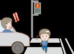 横断歩道での交通事故のイラスト