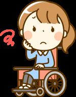 車椅子に乗る女の子の画像