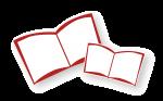 赤い本のイラスト