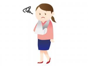 怪我をした女性のイラスト