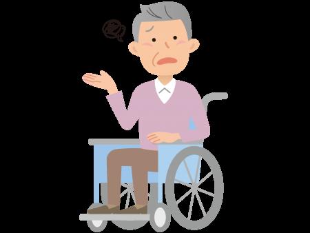 車椅子の老人のイラスト