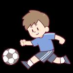 サッカーをする子どものイラスト