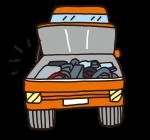 車の修理のイラスト