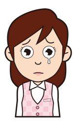 泣く女性のイラスト