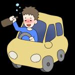 飲酒運転のイメージイラスト