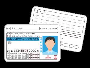 免許証のイメージイラスト