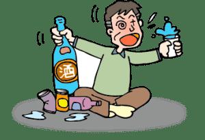 アルコール依存症のイメージイラスト