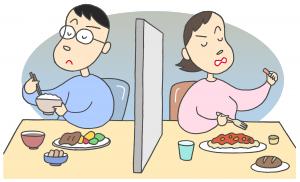 夫婦喧嘩のイメージイラスト