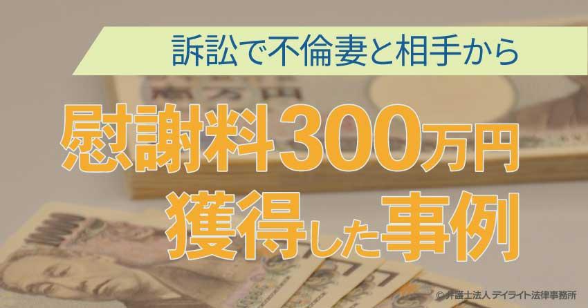 慰謝料300万円獲得事例