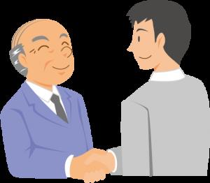 握手をする男性のイメージイラスト
