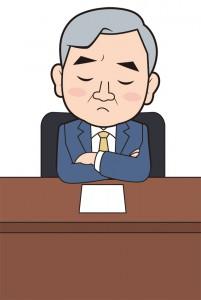 悩む弁護士のイメージイラスト