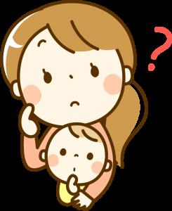 悩む母のイラスト