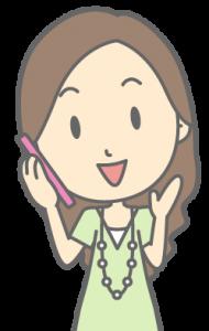 電話をする女性のイラスト