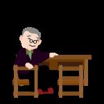 独り身の老人男性のイラスト