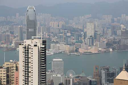 香港の街並み画像